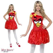 fancy dress costume ladies angry birds animal game red dress small