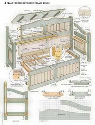 Outdoor Storage Bench Diy by Outdoor Storage Bench Plans U2022 Woodarchivist