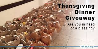 thanksgiving dinner giveaway presbyterian church of los