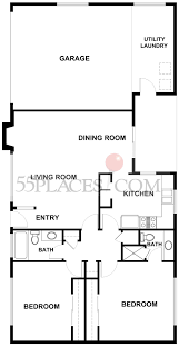 poplar floorplan 1145 sq ft oakmont village 55places com