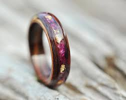 wedding rings for wood engagement ring etsy