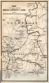 Map Of Camp Pendleton Shiloh Battlefield Map Tennessee And Shows Corinth Mississippi On