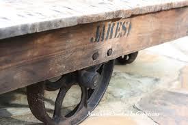 marsha u0027s creekside creations industrial cart coffee table