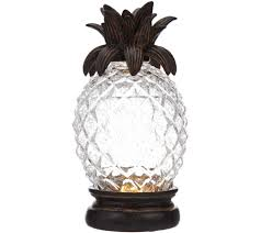Pineapple Light Fixtures Illuminated Crackle Glass Pineapple U2014 Qvc Com