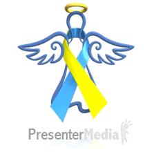 blue and yellow ribbon angel blue yellow ribbon floating