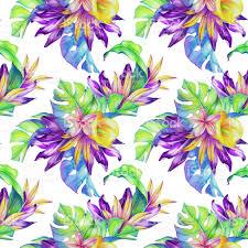 seamless jungle pattern exotic nature wallpaper watercolor