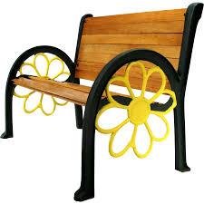 Wooden Chair Clipart Png Vintage Sunflower Cast Iron Wood Slat Patio Garden Porch Park