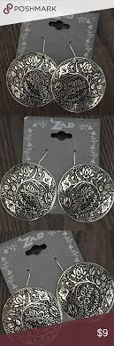 zad earrings zad boho silver earrings nwt earrings silver rounds