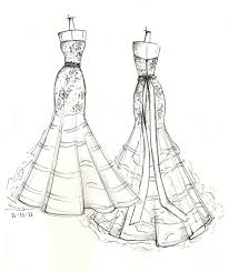 items similar to front and back dress sketch of your special dress