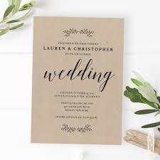 Traditional Wedding Invitations Wedding Invitation Tiny Leaves U2013 Papersizzle