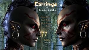skyrim earrings hn66s earrings серьги v1 5 tes v skyrim одежда modgames net