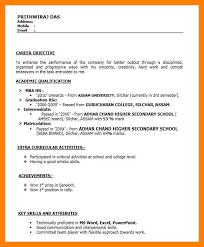 resume for hr freshers mba eliolera com