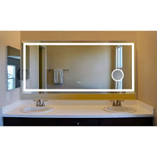 Electric Bathroom Mirrors Innoci Usa Electric Led Mirror With Four Lighted Sides Steel Back
