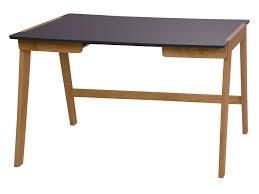 bureau bois bureau en bois avec 2 tiroirs piètement massif longueur 120 cm