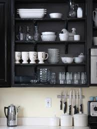 Kitchens With Open Shelving Ideas Cabinets U0026 Drawer Wallpaper Of Black And White Colors Also Wood
