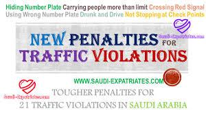 red light traffic violation new traffic penalties for violators in saudi arabia