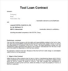 sample loan contract templates 10 free documents in pdf word