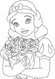 princess snow white roses coloring pages coloring pages