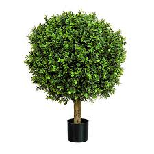 50 cm artificial tree boxwood topiary with pot