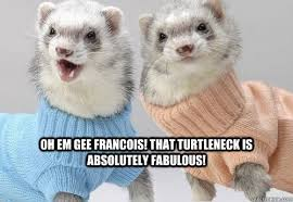 Turtleneck Meme - oh em gee francois that turtleneck is absolutely fabulous fab