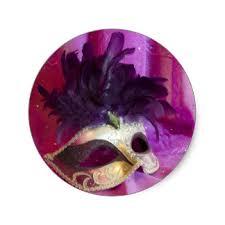 purple masquerade mask purple masquerade mask stickers zazzle
