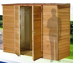 wide range of cedar timber garden sheds