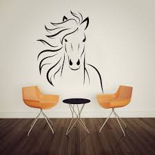compare prices on mustang wall decals online shopping buy low horse mustang wall decal art decor sticker vinyl mural 57cmx71cm china mainland