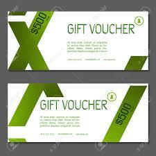 green gift voucher vector illustration gift voucher vector illustration coupon and voucher template