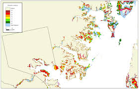 Map Of Maryland Counties More Sea Level Rise Maps For Maryland