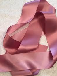satin ribbon pink ribbon antique mauve satin ribbon gold ribbon wedding
