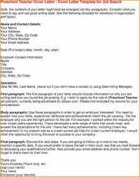 cover letters for preschool teachers teacher assistant cover