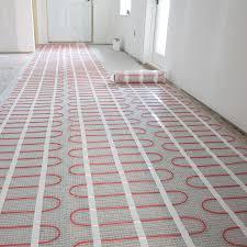 flooring heated tile floor electric heating mat radiant
