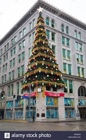the famous holiday christmas tree on the joseph p hornes building