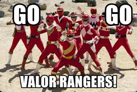 Power Rangers Meme Generator - go go valor rangers red team power rangers meme generator