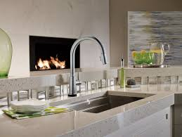 Electronic Kitchen Faucets Delta Trinsic Kitchen Single Handle Pull Down Standard Kitchen