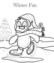 woolly hat winter coloring pages winter coloring pages of