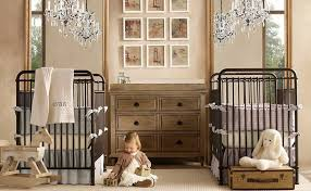 Outdoor Themed Baby Room - twin baby room ideas