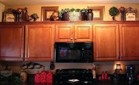Top Of Kitchen Cabinet Ideas Kitchen Cabinet Decorating Decor On Top Of Cabinets Kitchen