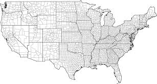Blank North America Map by Usa County Map With County Borders