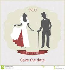 card for from groom save the date card template with and groom stock vector
