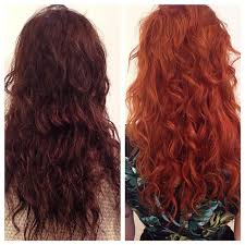 how to fade highlights in hair dark brown hairs transformed rock roll red color black brown hair long curly