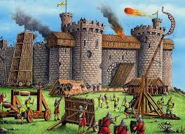 castle siege castle siege trebuchet catapult attack picture