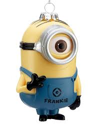 despicable me minion stuart or carl one eye personalized ornament