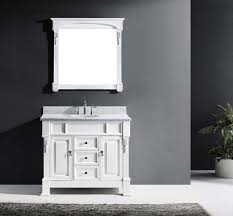 Black Bathroom Vanity With White Marble Top by 40