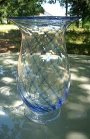 simon pearce hurricane ls funky large cobalt blue seattle studio art glass vase 19 99