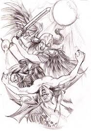 angel vs demon tattoo design photos pictures and sketches