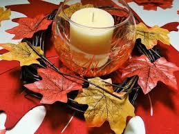 thanksgiving diy crafts dollar tree crafts thanksgiving autumn leaf candle centerpiece