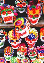 sugar skull molds trading co sugar skulls mexican folk oilcloth