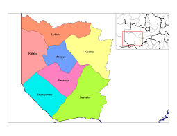 Zambia Map Districts Of Zambia