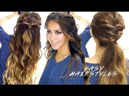 2 braids in front hair down hairstyle long natural hair 2 super easy school hairstyles braided half up cute